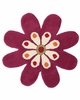 Blooming Flower Rug in Fuchsia