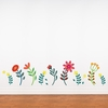 Blooming Flowers print Wall Decal