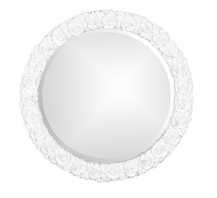 Blooming Roses Round Mirror