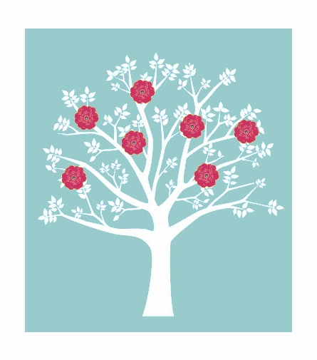 Blooming Tree Wall Decal II
