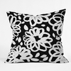Blossom Mono Throw Pillow