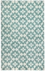 Blossom Rug in Pale Blue Cream