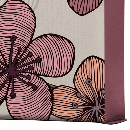 Blossom Wrapped Canvas Art