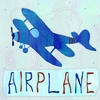 Blue Airplane Canvas Wall Art