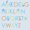 Blue Alphabet Canvas Wall Art