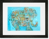 Blue Alphabet Elephant Framed Art Print
