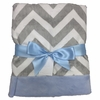 Blue and Gray Chevron Baby Blanket