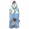 Blue and Gray Chevron Hooded Towel
