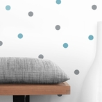Blue and Gray Dot Wall Decals