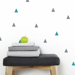 Blue and Gray Triangle Wall Decals
