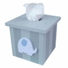 Blue and Grey Elephant Tissue Box Cover