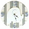 Blue and Grey Elephant Wall Clock