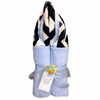 Blue and Navy Chevron Hooded Towel
