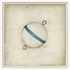 Blue and White Bobber Framed Wall Art