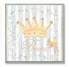 Blue and White Prince Crown Wall Plaque