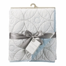 Blue and White Quilted Crib Comforter