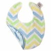 Blue and Yellow Chevron Bib