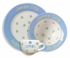 Blue Baby Dot Ceramic Dish Set