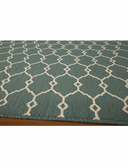 Blue Baja Lattice Rug