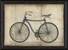 Blue Bicycle Framed Wall Art