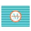 Blue Bottlecap Stripe Personalized Cutting Board