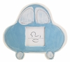 Blue Car on White Ceramic Picture Frame
