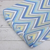 Blue Chevron Changing Pad Cover