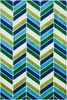 Blue Chevron Gracie Rug