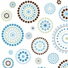 Blue Circle Dot Caden Lane Fabric by the Yard