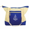 Blue Colorblock Beach Tote