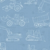 Blue Construction Blue Print Wallpaper