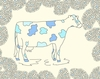 Blue Cow Canvas Wall Art