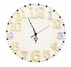 Blue Cut Out Wall Clock