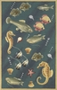 Blue Deep Sea Dives Rug
