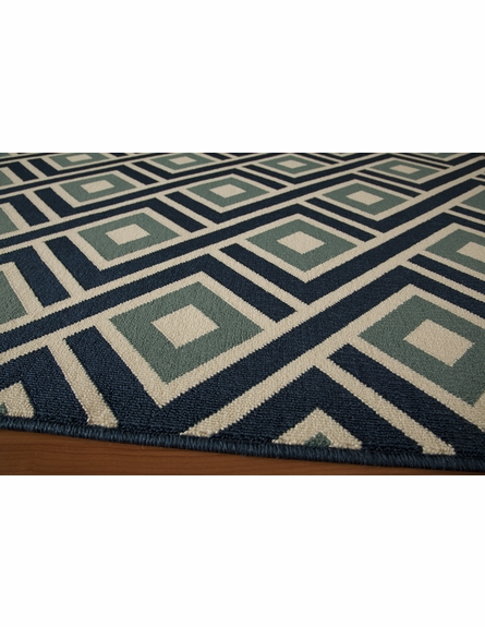 Blue Diamonds Baja Rug