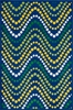 Blue Dot Wave Gracie Rug