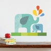 Blue Elephant Baby Fabric Wall Decal