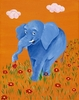Blue Elephant Canvas Reproduction