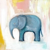 Blue Elephant Canvas Wall Art