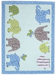 Blue Elephant Kids Rug