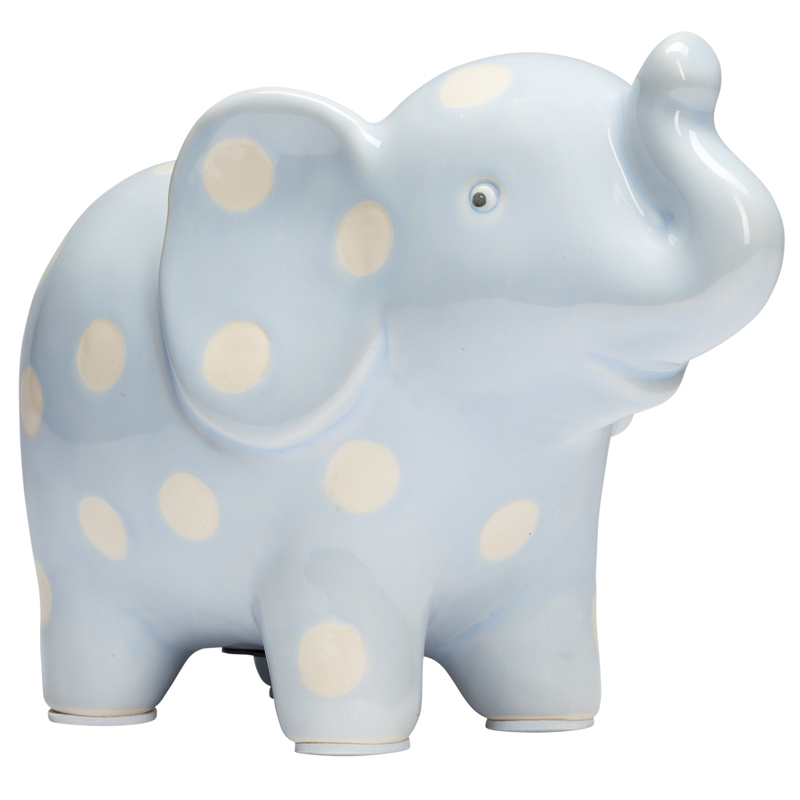 Blue Elephant Piggy Bank by Elegant Baby