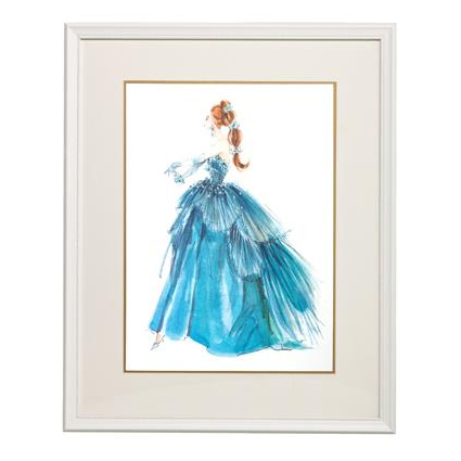 Blue Evening Gown Framed Couture Barbie Art Print By Art