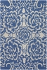 Blue Floral Counterfeit Rug