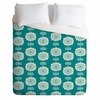 Blue Flowers Luxe Duvet Cover