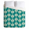 Blue Flowers Lightweight Duvet Cover