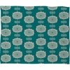 Blue Flowers Fleece Throw Blanket