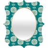 Blue Flowers Quatrefoil Mirror