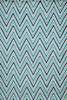 Blue Geo Chevron Rug