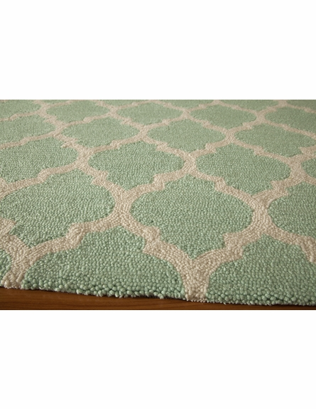 Blue Geo Lattice Rug