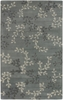 Blue Gray Vine Rug